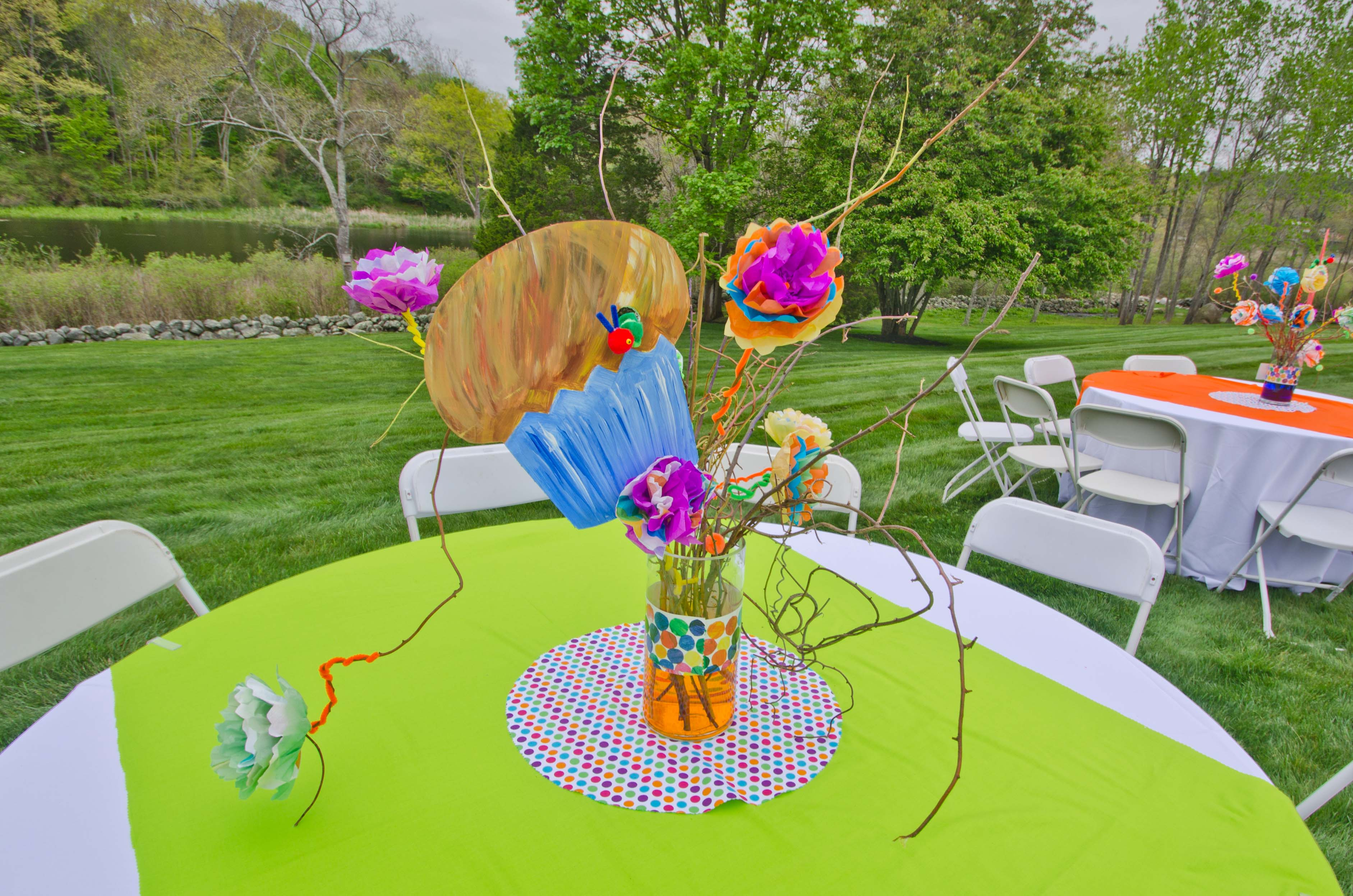 decor, madhatter, silly sally, funky, decorations, flowers, center piece,