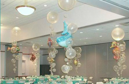 decor, silly sally, events, decorations, clown, clowns, children entertainment, parties, balloons, bubbles, child, boston, la, dolphin, chicago, new york, miami, entertainment, parties, under the sea, kids, children