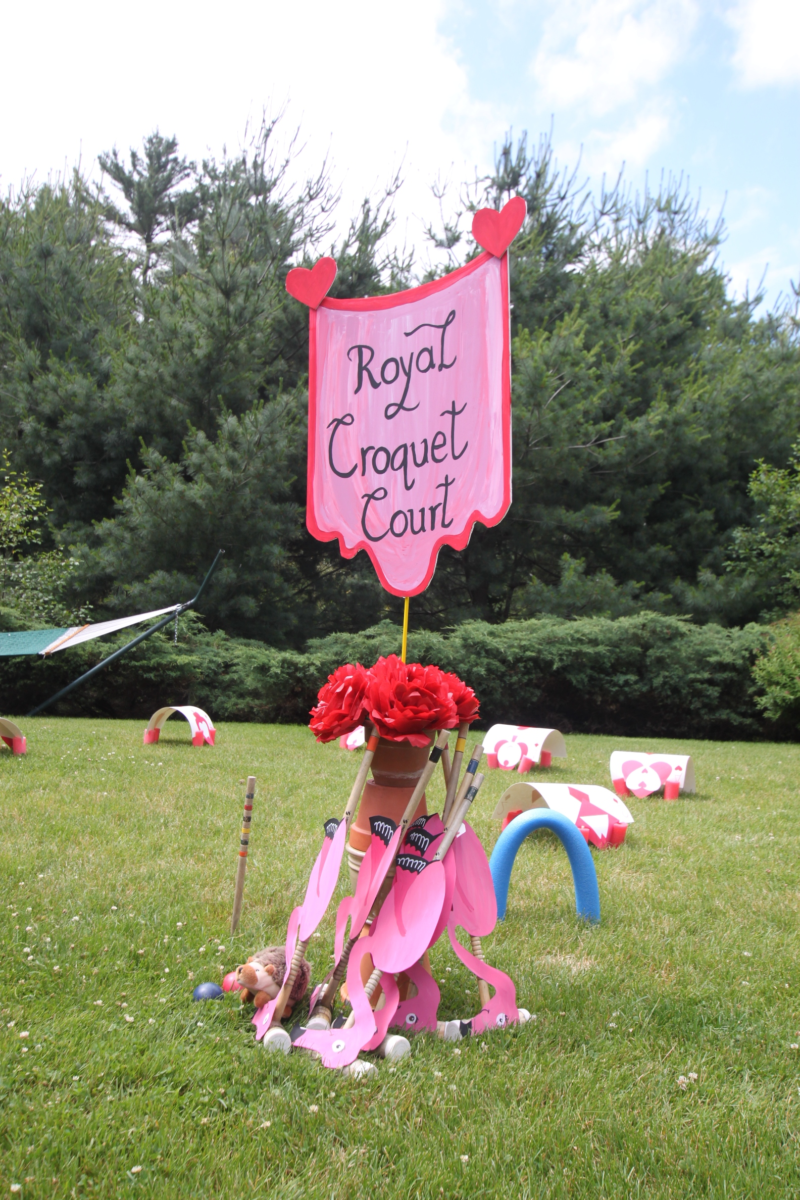 croquet, cards, Queen of Hearts, Silly Sally's, Paper craft, party decoration, kid games